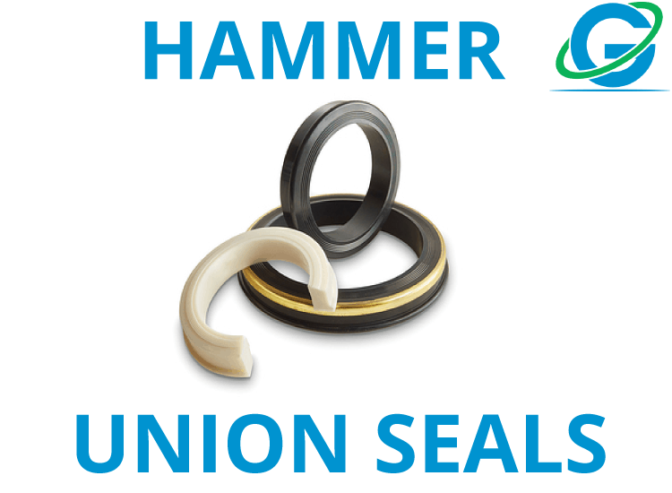 Hammer Union Seals w/ Brass or Stainless Steel Anti-Extrusion Ring