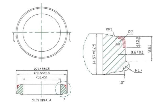 2-Inch Hammer Union Seal with Anti-Extrusion Ring