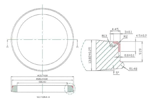 4-Inch Hammer Union Seal with Anti-Extrusion Ring