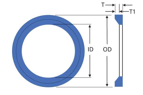 Anillo O 21.90 mm de diámetro x 2.62 mm Viton Paquete de 6 BS118